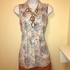 Dalia Collection floral tank
